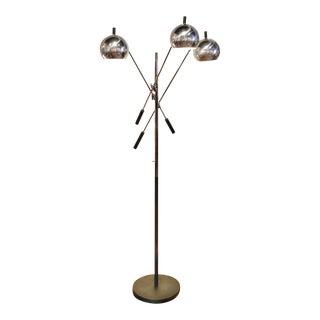 1970s Vintage Robert Sonneman Triennale Style Chrome Floor Lamp For Sale