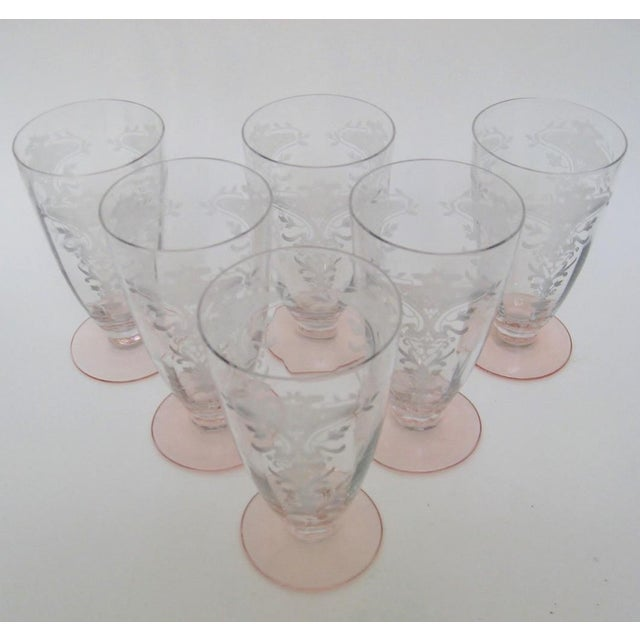 Etched Fluted Glasses - Set of 6 - Image 2 of 6