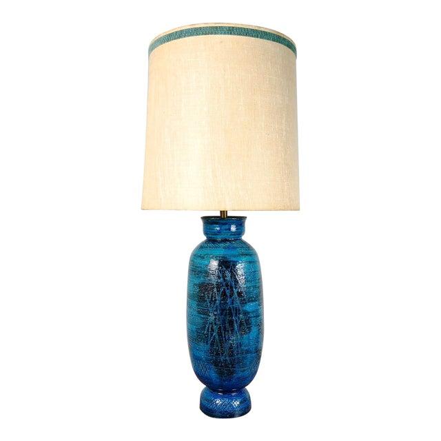 1960s aldo londi bitossi blue ceramic table lamp with original shade 1960s aldo londi bitossi blue ceramic table lamp with original shade aloadofball Choice Image