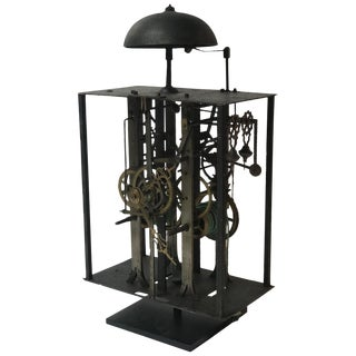 19th Century Long Case Clock Works Mounted on Stand Sculpture For Sale