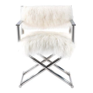 Pasargad Home Mongolian Fur Director's Chair For Sale