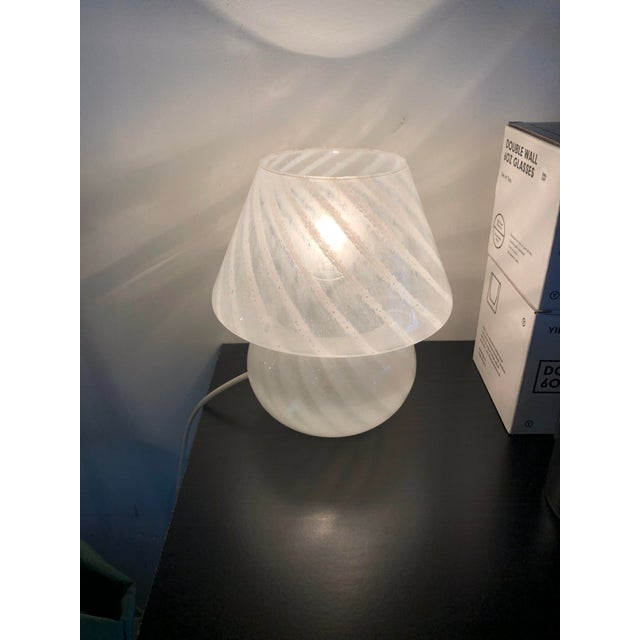 1970s Italian 1970s Vetri Murano Mushroom Table Lamp For Sale - Image 5 of 6