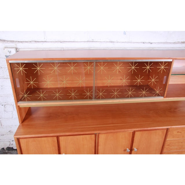 Drexel Kipp Stewart for Drexel Sun Coast Cherry Wood Sideboard Credenza, 1959 For Sale - Image 4 of 13