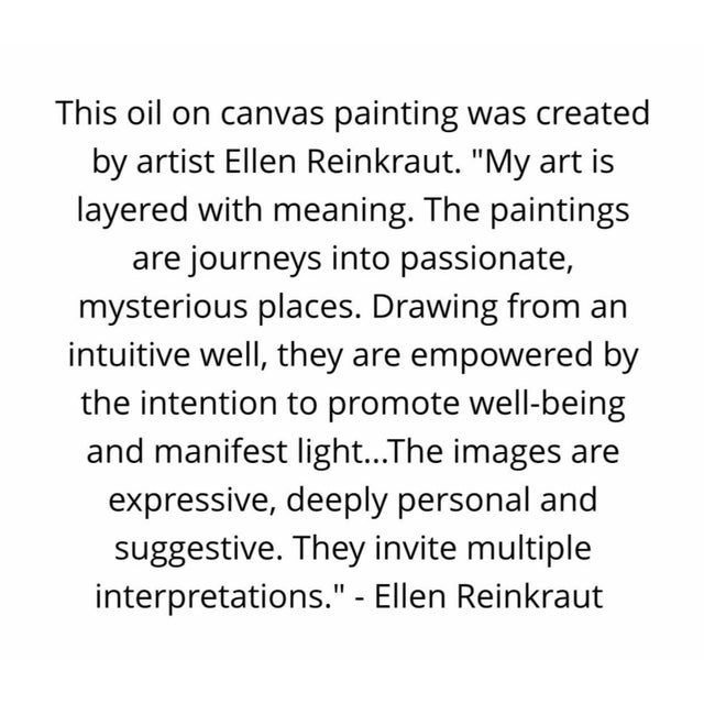 """2016 Original Abstract Expressionist """"Magical Moments"""" Painting by Ellen Reinkraut For Sale - Image 10 of 10"""