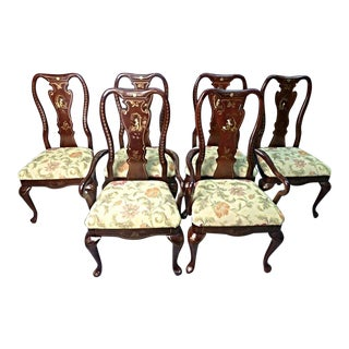 Queen Anne Style Dining Chairs - Set of 6