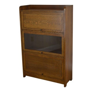 Stickley Mission Collection Oak Barrister Bookcase For Sale