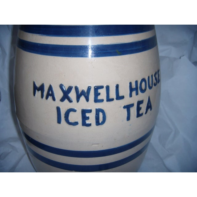 Old Maxwell House Iced Tea Ceramic Dispenser - Image 3 of 10