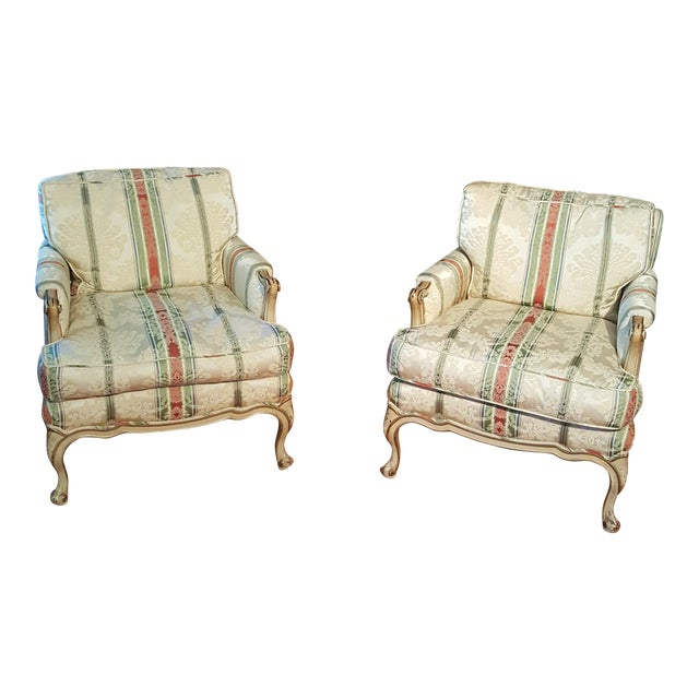 19th Century French Prov. Club Chairs - a Pair - Image 1 of 11