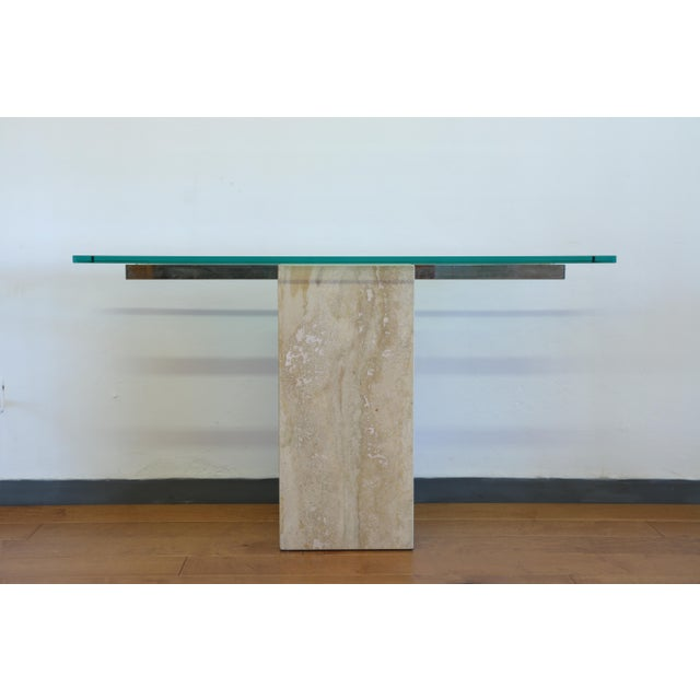 White Vintage Travertine Console Table For Sale - Image 8 of 8