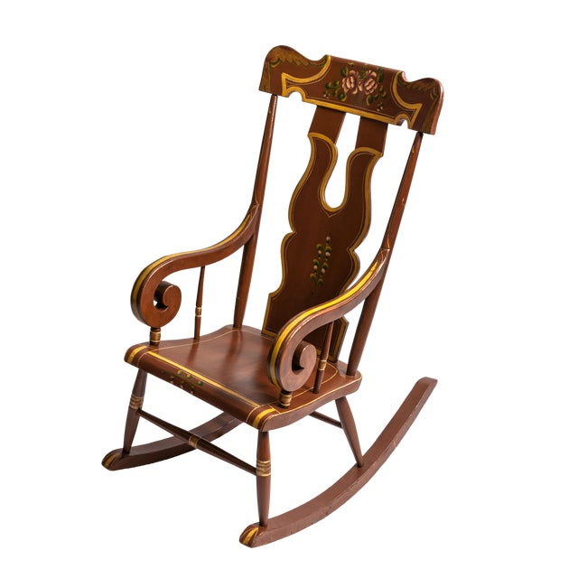 Decorated Boston Rocker For Sale