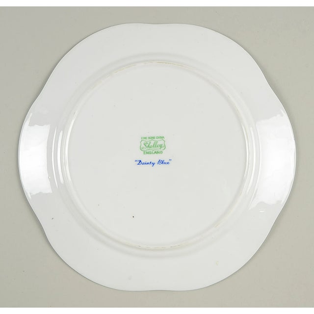 Early 20th Century Shelley Dainty Blue Salad Plate Set/6 For Sale - Image 5 of 6