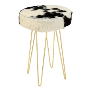 Brass Tri-Color Cloud Hairpin Counter Stool For Sale