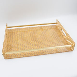 Christian Dior Home 1970s Lucite and Rattan Barware Serving Tray Preview