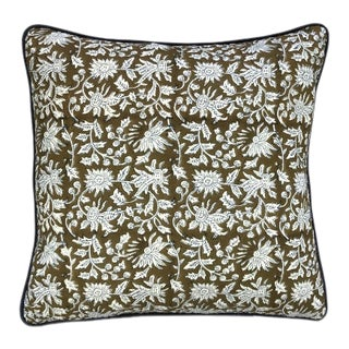 Block Print Soniat Pillow For Sale