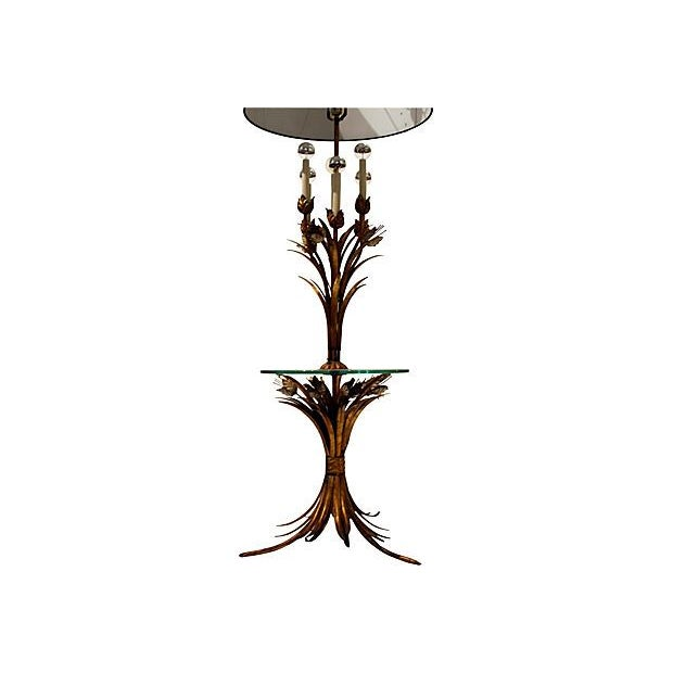 Sheaf of Wheat Gilt Floor Lamp - Image 4 of 6