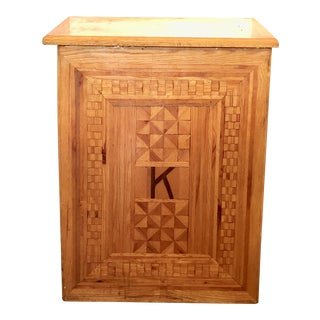 Handcrafted Marquetry Clothes Hamper For Sale