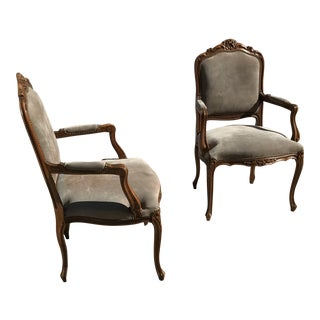 18th Century Style Armchairs - A Pair