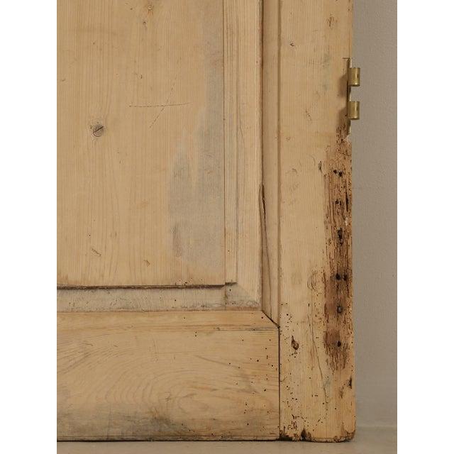 Antique Irish Scrubbed Pine Interior Door For Sale In Chicago - Image 6 of 10