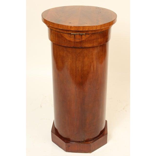 19th Century Napoleon III Flame Mahogany Cylinder Cupboard For Sale - Image 4 of 13