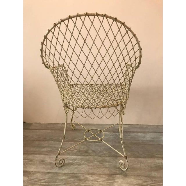 French Painted Wire Tub Back Chairs - a Pair - Image 3 of 10