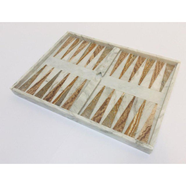 Italian Onyx and Marble Backgammon Set, 1960s For Sale - Image 4 of 13