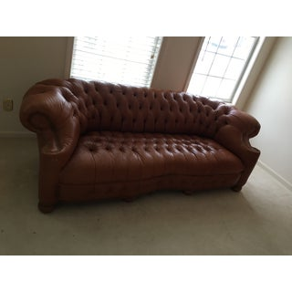 1990s Vintage Old Hickory Tannery Tufted Leather Sofa Preview
