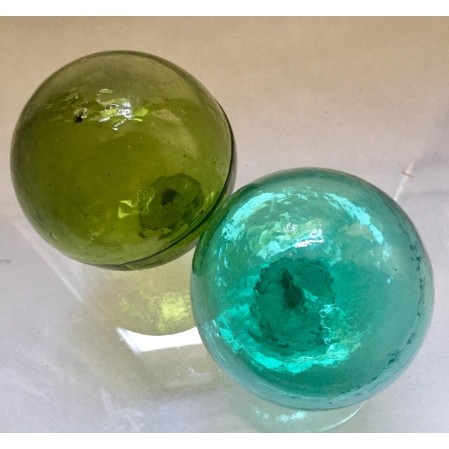 Vintage Hand-Blown Glass Fishing Floats - A Pair - Image 2 of 4