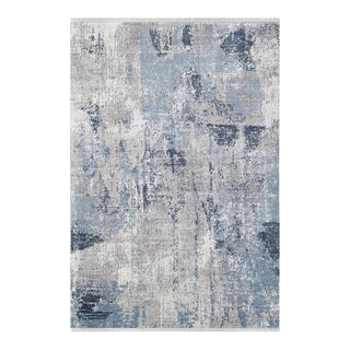 """Gizem, Contemporary Cream 5' 3"""" x 7' 6"""" Power Loomed Area Rug For Sale"""