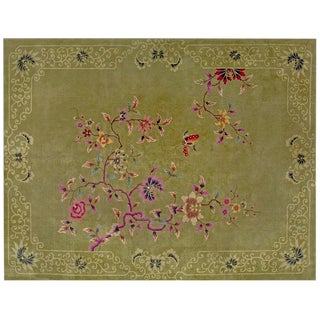 """1920s Chinese Art Deco Rug - 8'10""""x11'6"""" For Sale"""