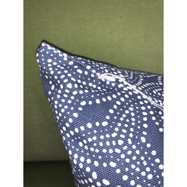 Contemporary Pair of Gimbya Blue Geometric Pillows For Sale - Image 3 of 5