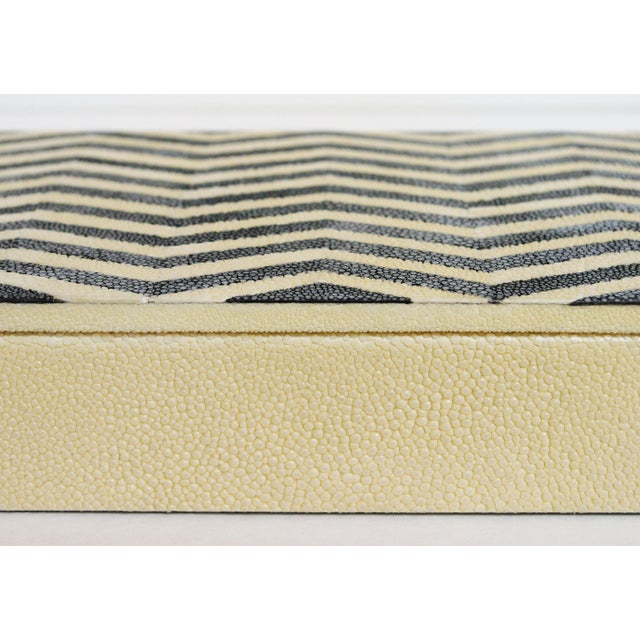 Asian Ivory and Black Shagreen Box by Fabio Ltd For Sale - Image 3 of 6
