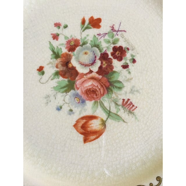 Early 20th Century Early 20th Century Antique Myotts Staffordshire England China Luncheon Plates - Set of 5 For Sale - Image 5 of 8