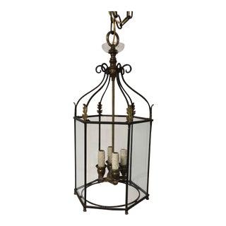 4-Light Vintage Solid Brass Lantern