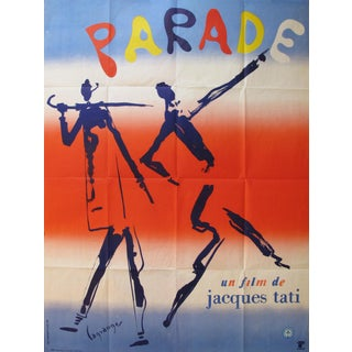 1974 French Movie Poster, Parade by Jacques Tati