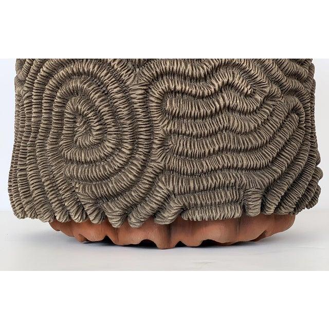 Orange Textured Studio Pottery Terracotta Vase For Sale - Image 8 of 13