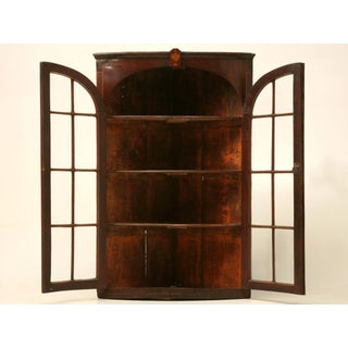 Antique English Georgian Mahogany Glazed Corner Cabinet Preview