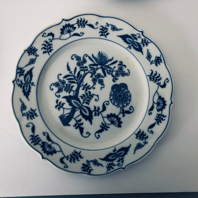 English Blue Danube English China Salad Plates - Set of 5 For Sale - Image 3 of 5