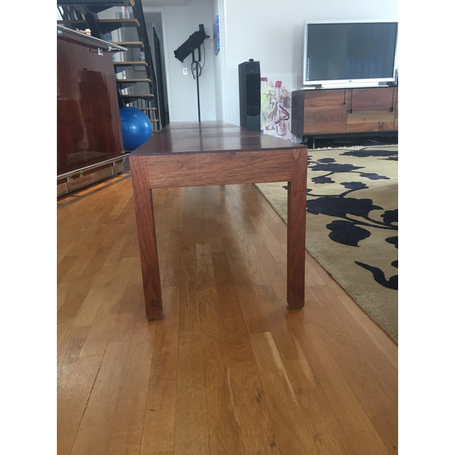 BDDW Walnut Bench With Leather Seat - Image 4 of 4