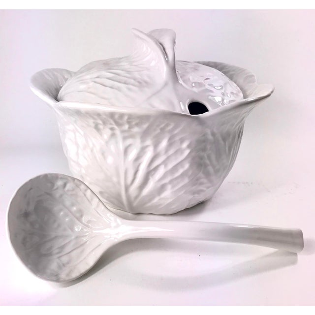 Portuguese Cabbage Soup Tureen With Ladle Chairish