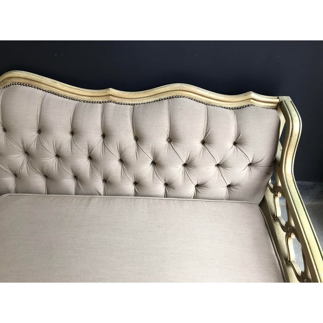 Cool Restored Vintage French Cream And Gold Tufted Sofa Home Interior And Landscaping Analalmasignezvosmurscom