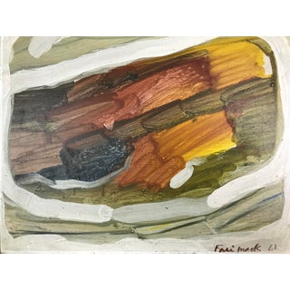 Abstract Expressionist Painting, Robert Freimark 'Arial Landscape', 1961 For Sale