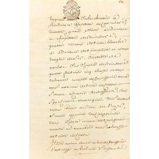 Letter of King Louis XV Baillif Manuscript C.1757 For Sale
