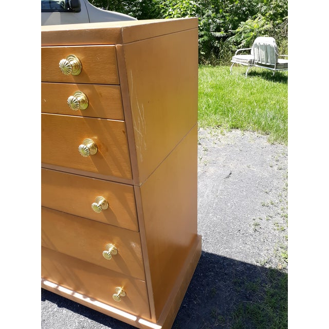 1940's C. G. Kimerly for Widdicomb 12 Drawer Chest For Sale - Image 11 of 13