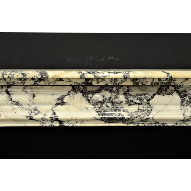 French Paonazetto Pompadour Fireplace Mantel For Sale - Image 3 of 12