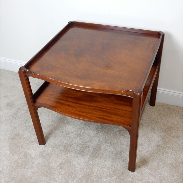 Baker Furniture Large 2 Tier Mahogany Table - Image 2 of 11