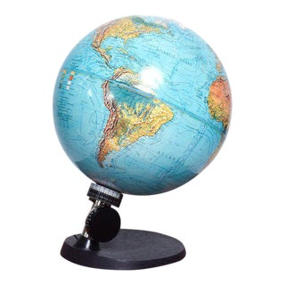 Danish Modern Illuminated Scan Globe For Sale