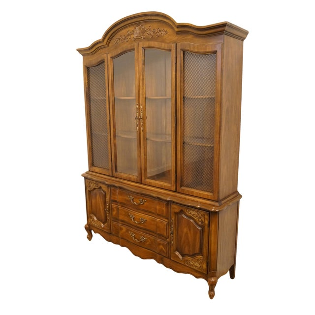 """Bernhardt Furniture country French regency 60"""" buffet with lighted china cabinet. We specialize in high end used furniture..."""