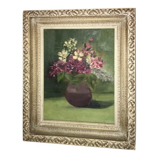 Nancy O'Neill Floral Oil on Canvas Painting For Sale