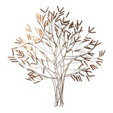 Image of William Bowie Gilt Metal Stick Tree Wall Sculpture For Sale