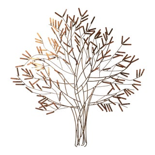 William Bowie Gilt Metal Stick Tree Wall Sculpture For Sale
